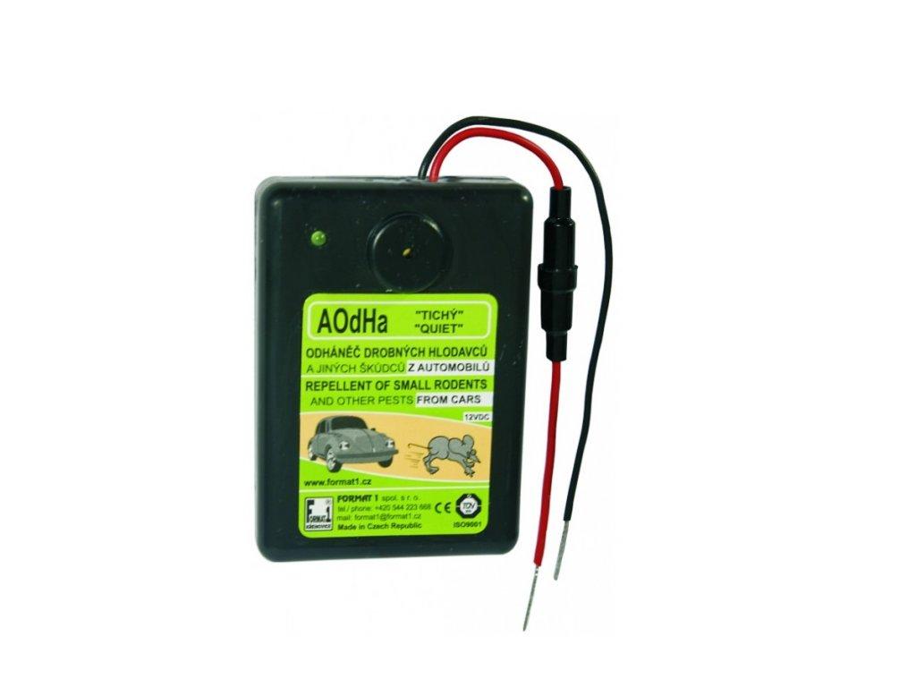 Elektronický odháněč škůdců z vozidel slyšitelný AOdHA/s