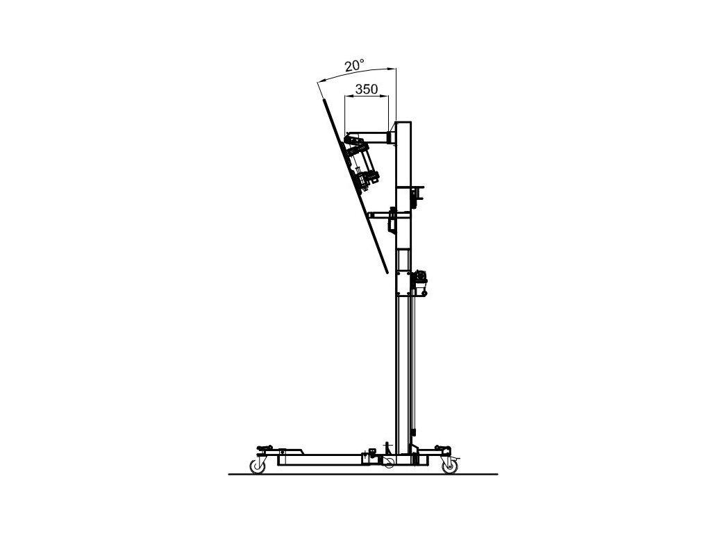 Rameno 350 mm pro řadu SLIM