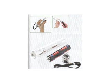 Kovová svítilna s náhradními bateriemi HU21004