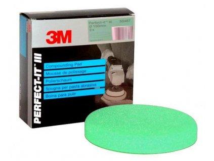 Pěnový lešticí kotouč - zelený 4ks 3M-50499