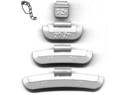 Vyvažovací tělíska 15 g 100 ks ASTA 15