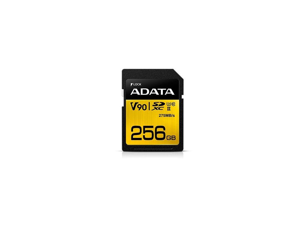 ADATA SDXC 256GB UHS-II U3 (275/155MB)