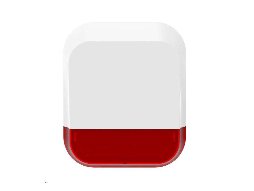 iGET SECURITY DP11 Bezdrátová bateriová venkovní siréna 115 dB pro alarm M4. Indikace alarmu také pomocí červených LED