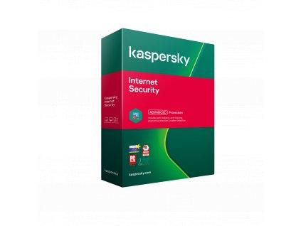 Kaspersky Internet Security 3x 1 rok Nová + Safe Kids 6 měsíců 2021 BOX