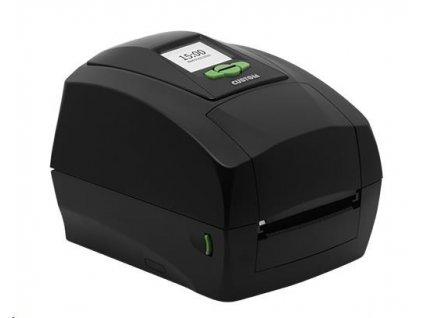 Custom TT/DT tiskárna etiket D4 202, 203dpi, USB/RS232, display, černá
