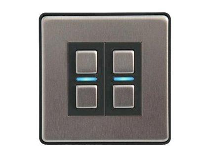 Lightwave L22 - Stmívač - bezdrátový - 868 MHz - nerezová ocel