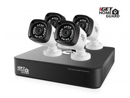 iGET HGDVK46704P - Kamerový CCTV set HD 720p, 4CH DVR rekordér + 4x HD 720p kamera,Win/Mac/Andr/iOS