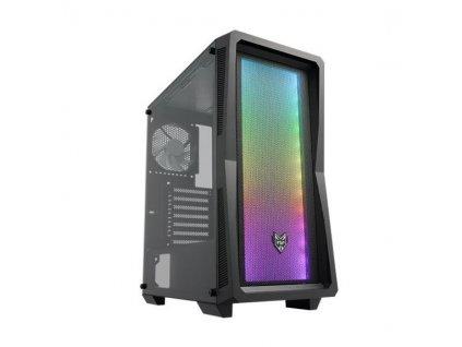 FSP/Fortron ATX Midi Tower CMT212 Black, A.RGB light bar