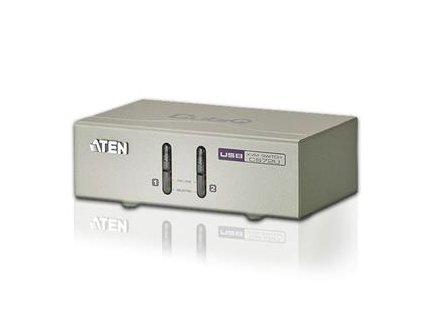 Aten 2-port KVM USB, audio 2.1, včetně kabelů