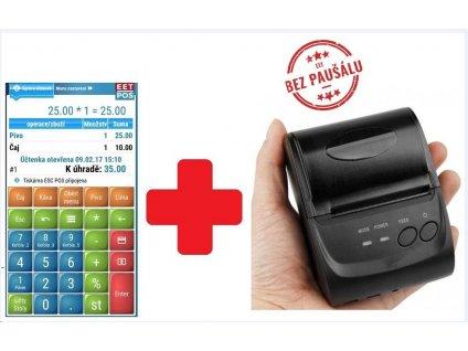 EET-POS plná verze + mobilní tiskárna 5802LD