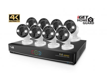 iGET HGNVK164908 - Kamerový UltraHD 4K PoE set, 16CH NVR + 8x IP 4K kamera, zvuk, SMART W/M/Andr/iOS