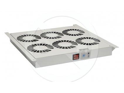 Ventilační jednotka 6 vent.,termostat, do stropu i dna VJ-R6, šedá