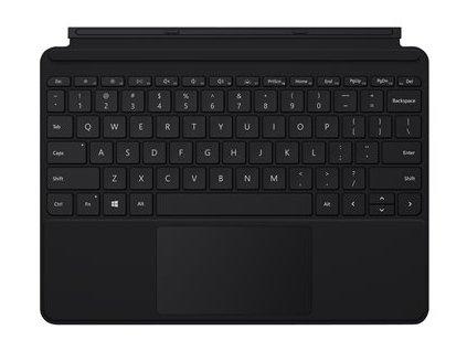 Microsoft Surface Go Type Cover - Klávesnice - s trackpad, akcelerometr - podsvícená - francouzská - černá - komerční - pro Surface Go, Go 2