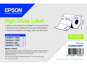 High Gloss Label - Die-cut Roll, 102x152,210ks