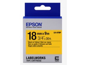 Epson Label Cartridge Pastel LK-5YBP Black/Yellow 18mm (9m)