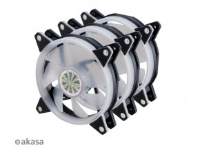 AKASA ventilátor VEGAS AR7, sada 3x120mm RGB LED + prodlužovací kabel