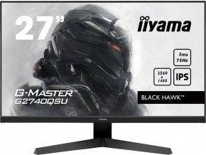 27'' iiyama G-Master G2740QSU-B1: IPS, WQHD@75Hz, 1ms, HDMI, DP, USB, FreeSync, černý