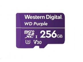 WD MicroSDXC karta 256GB Purple WDD256G1P0C Class 10 (R:100/W:60 MB/s)
