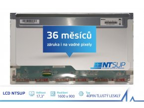 LCD PANEL NTSUP 17,3'' 1600x900 40PIN TLUSTÝ LESKLÝ