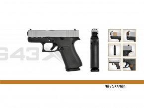 GLOCK G43X Silver Slide Features kopie