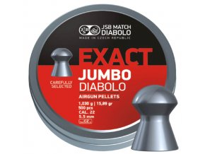 Diabolo JSB Exact Jumbo 5,51 mm 250 ks