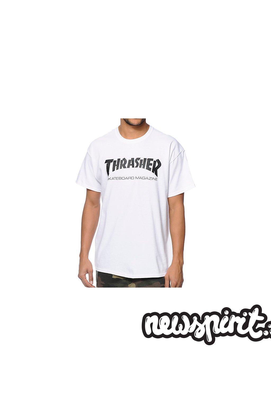 Tričko Thrasher Skate Mag crew White