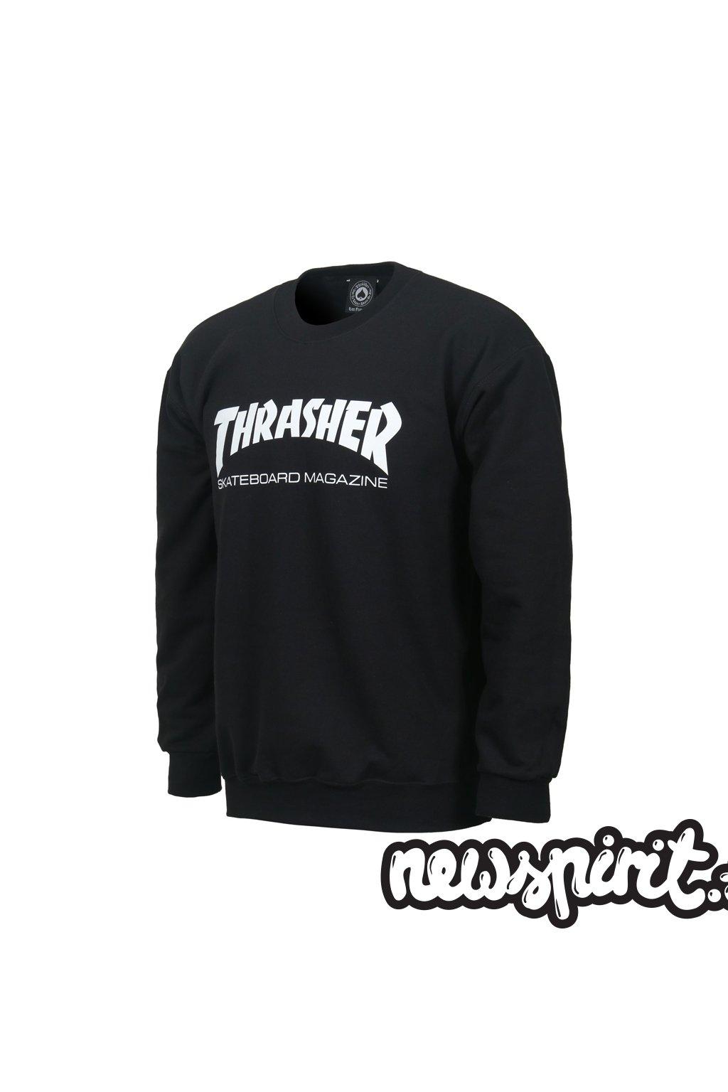 Mikina Thrasher Skate Mag Crewneck Black