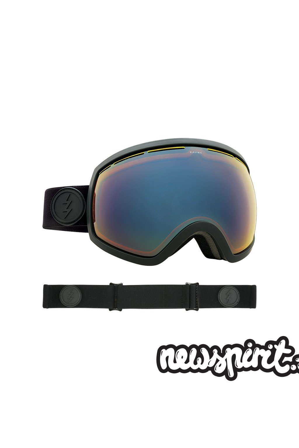 Snowboardové okuliare Electric EG2 Mate Black YLW Blue Chrome