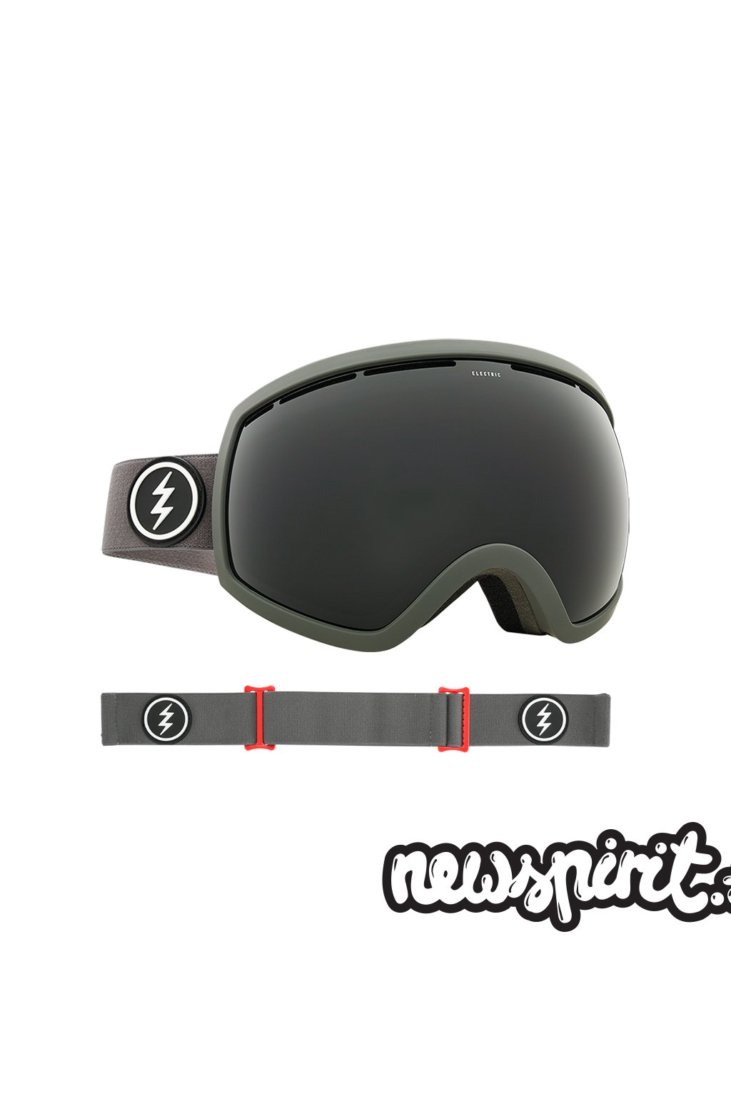 Snowboardové okuliare Electric Grey Red Jat Black