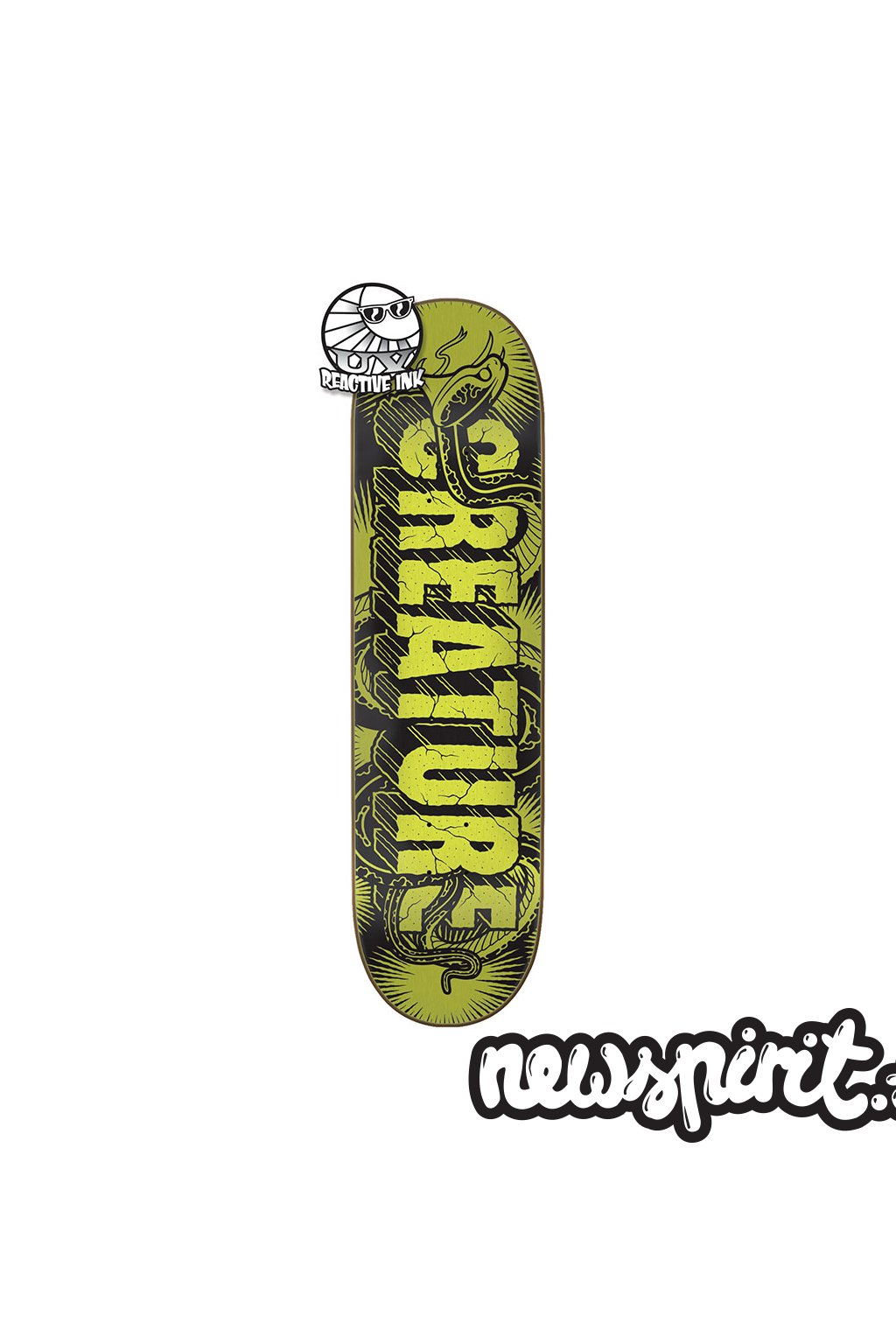 Skateboard Creature - Giant Serpents UV MD 8,25