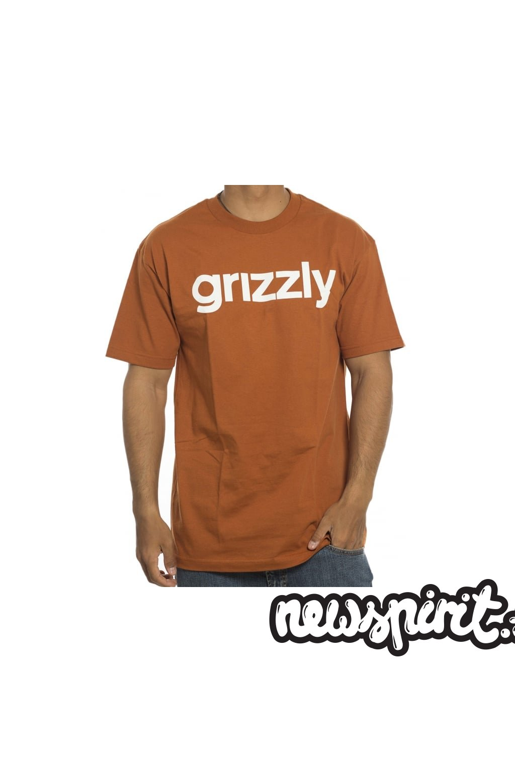 Tričko Grizzly Lowercase Texas Orange