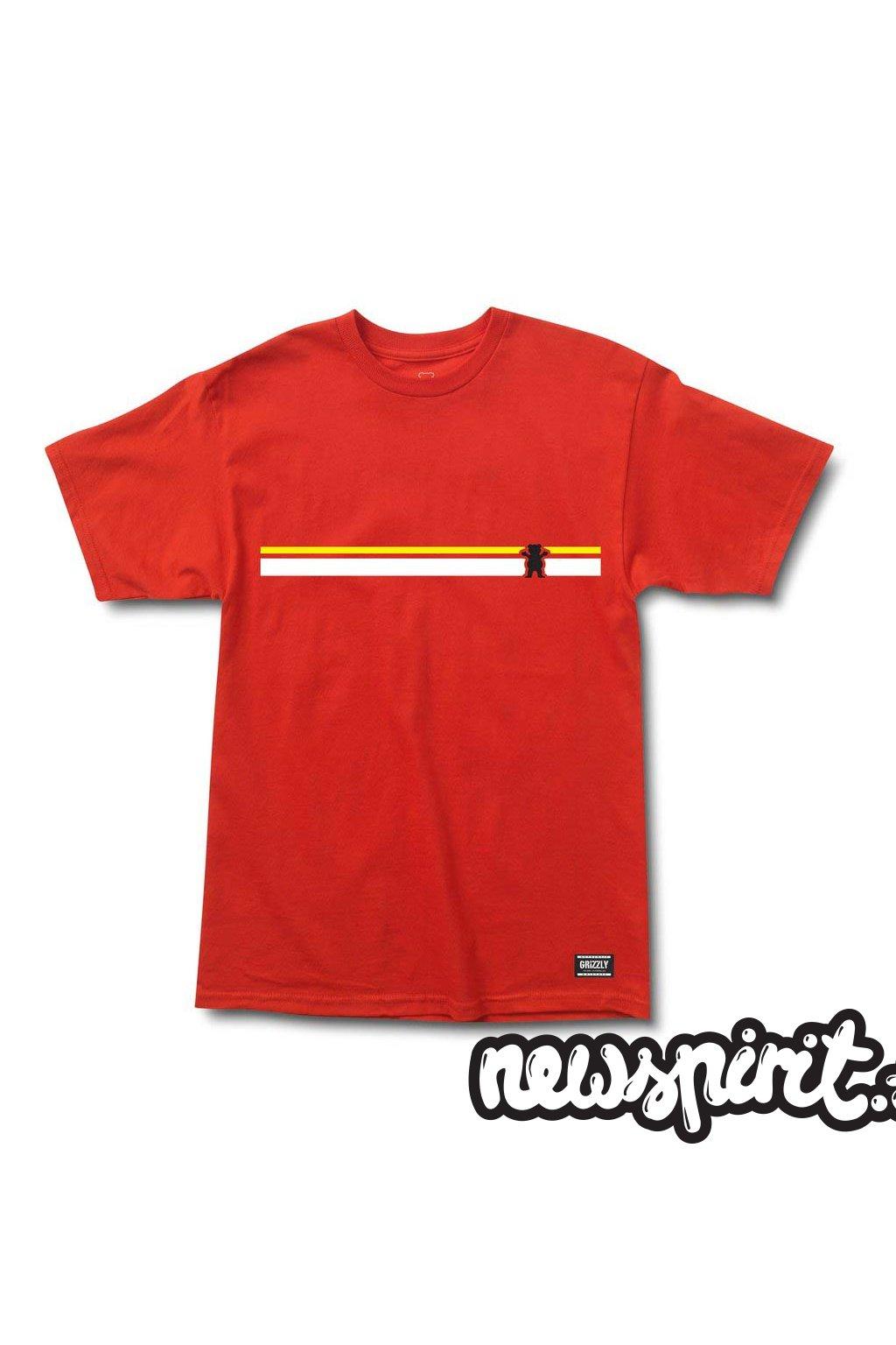 Tričko Grizzly Mainline Red
