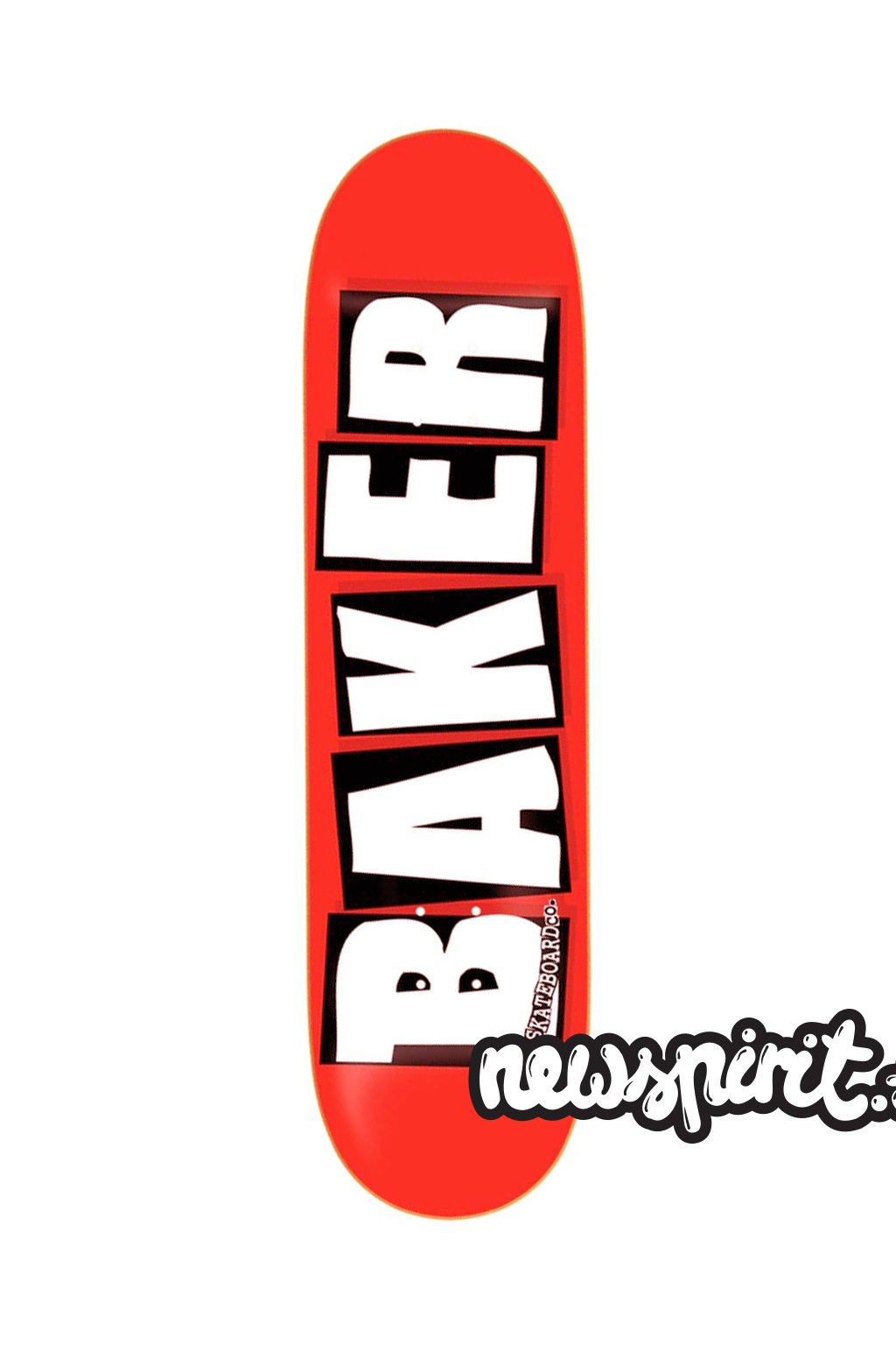 baker skateboards brand logo red white mini skateboard 1