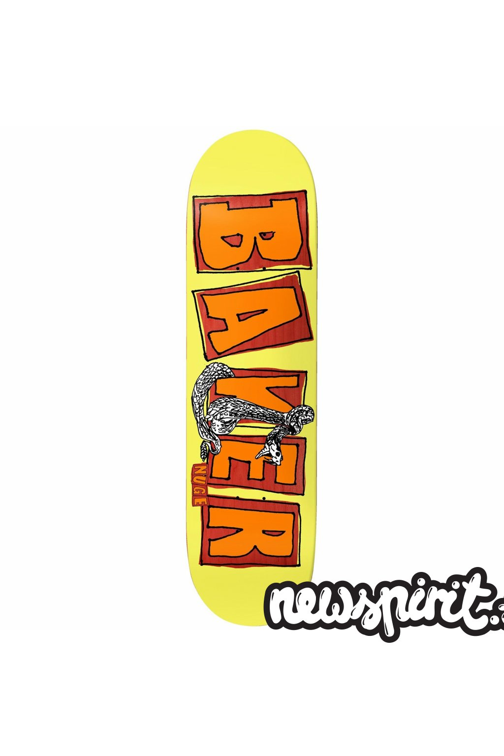 baker nuge brand name flash 8 0 skateboard deck 8 0