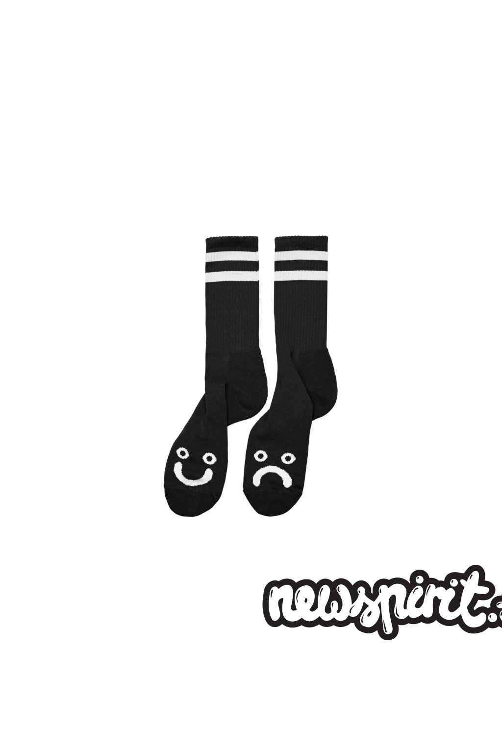 45291 ponozky polar happy sad socks black