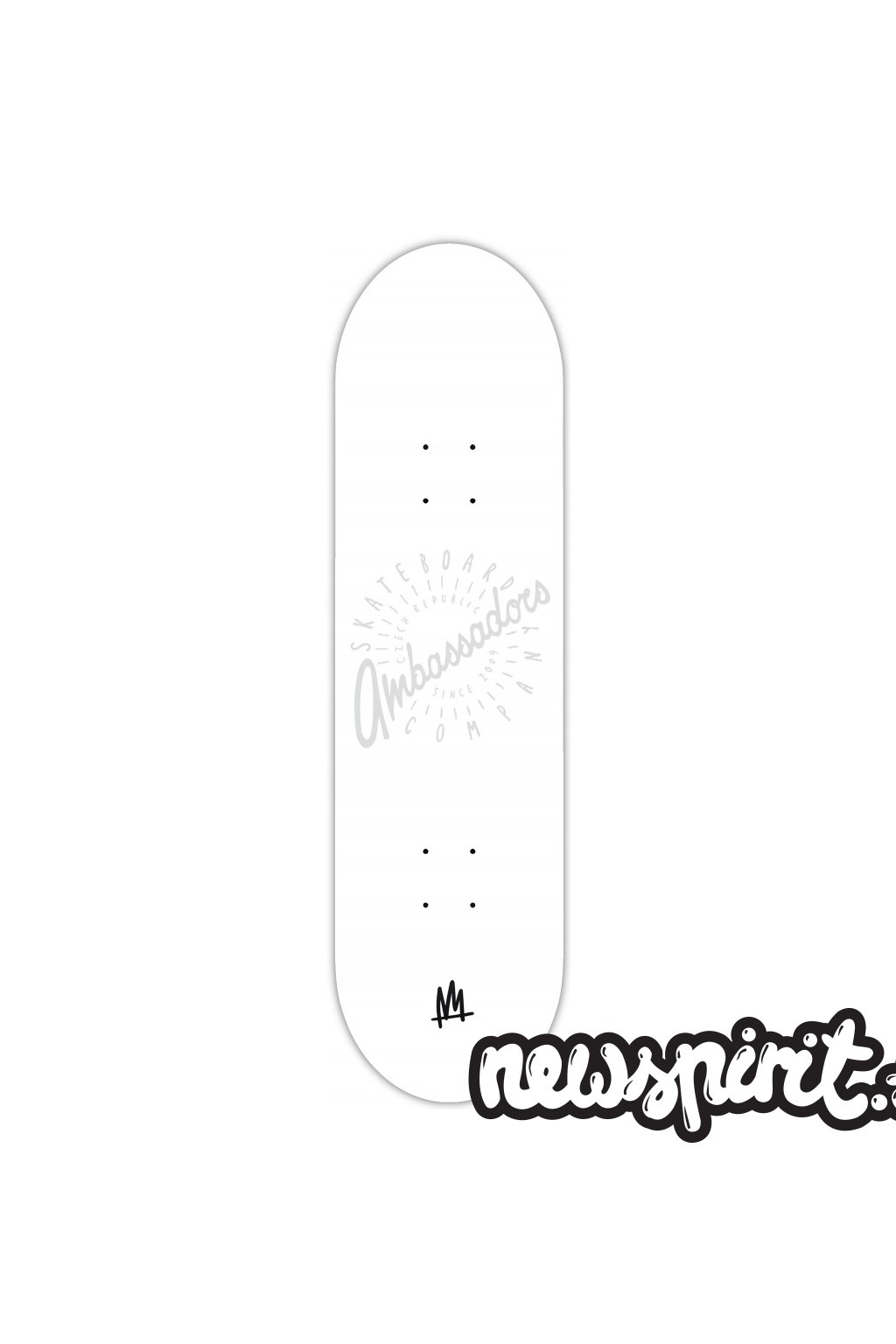 ambassadors skateboard spin shadow white