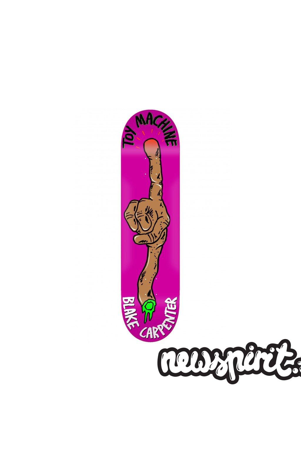 toy machine fos arm carpenter 85 skateboard deck