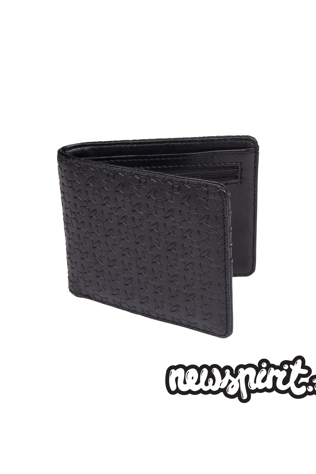 Independent Wallet Repeat Cross Black Emboss