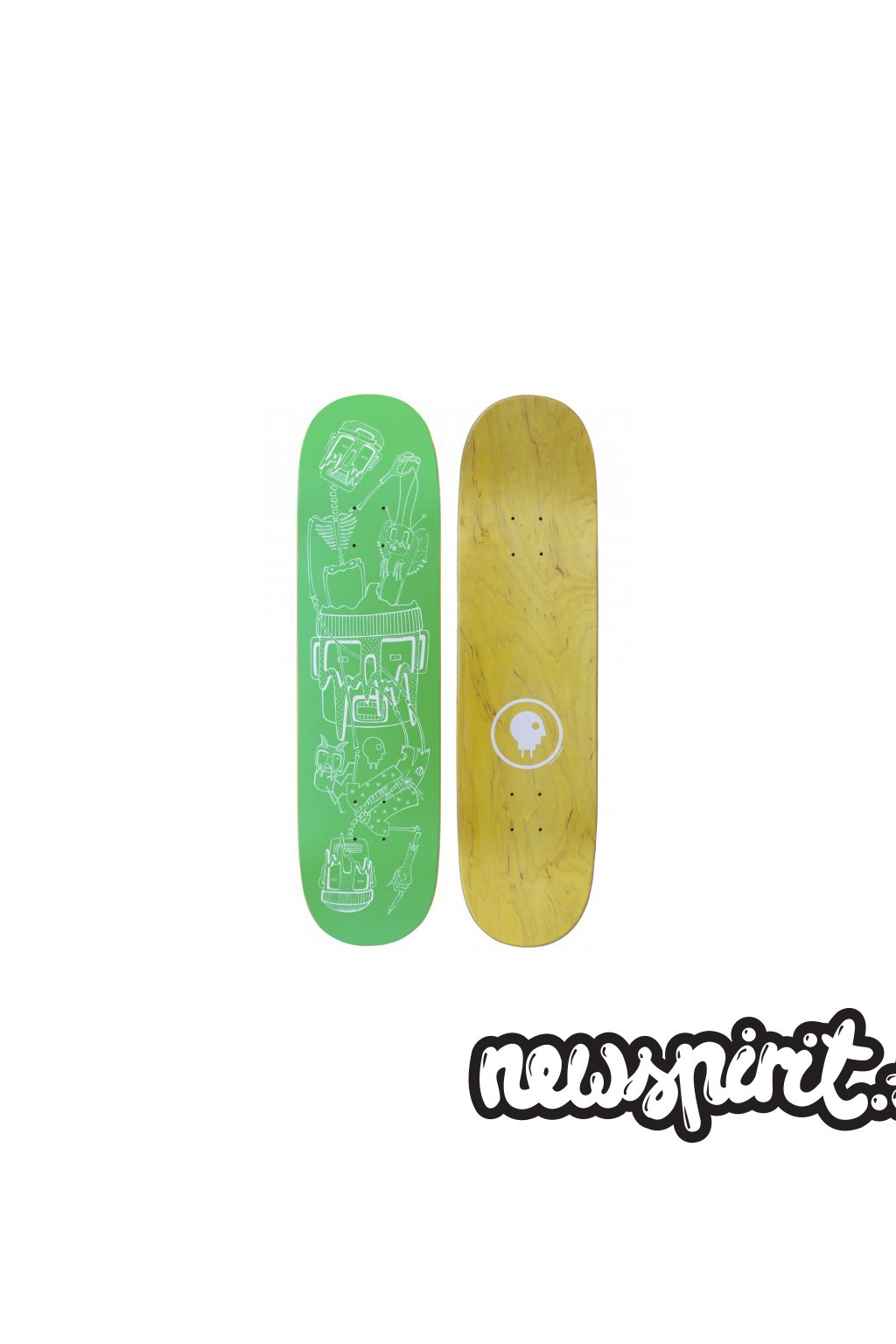 skateboard deck charge ku figureheads green 1