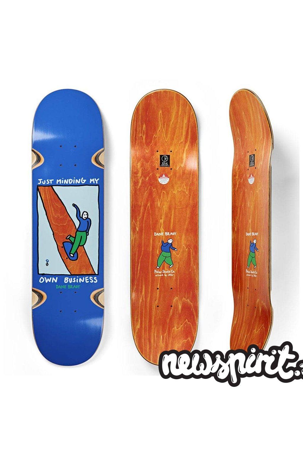 polar skateboards dane brady just minding my own business wheel whells skateboard deck 9 0