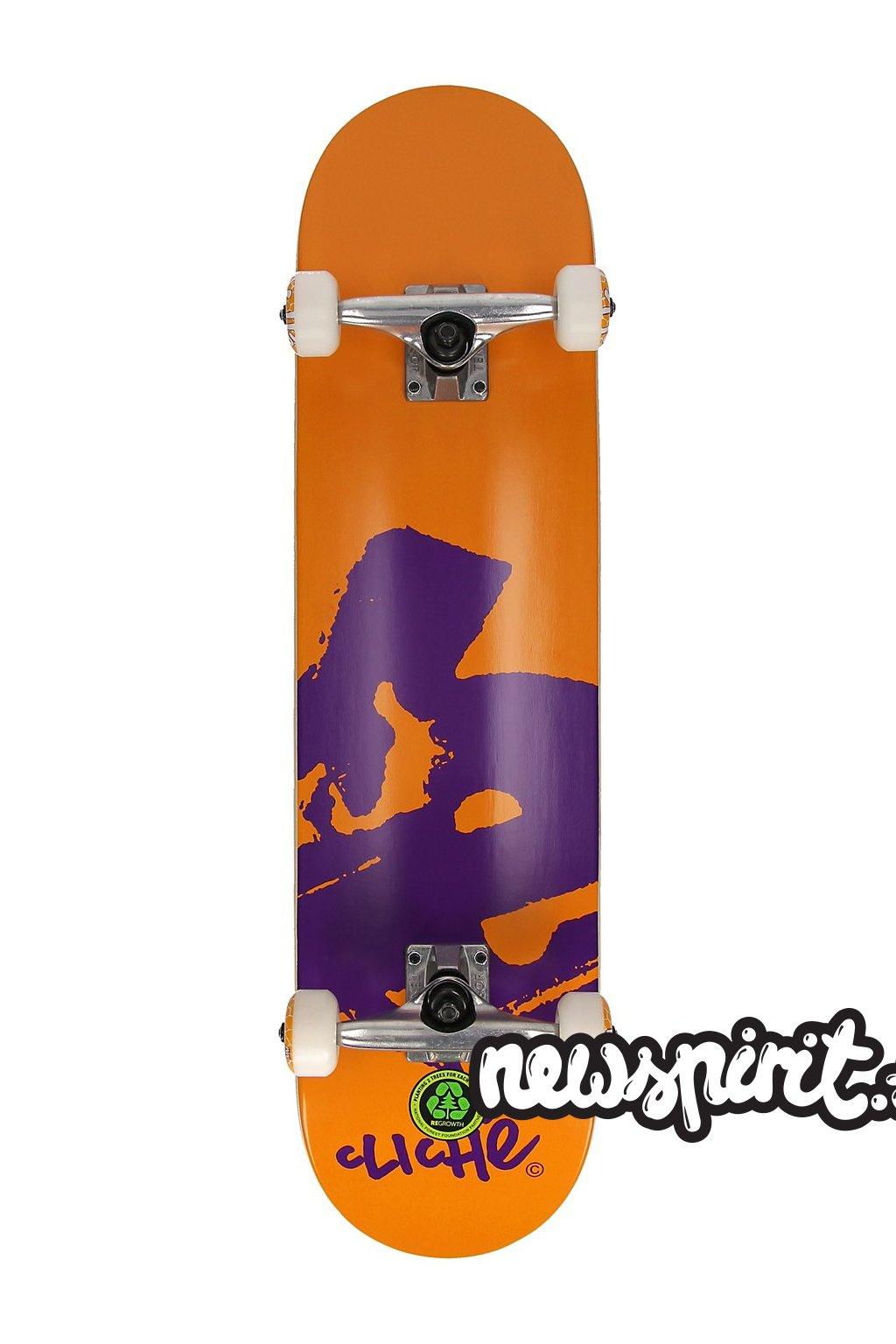 Skateboard Cliche Europe FP 7.875 Complete orange