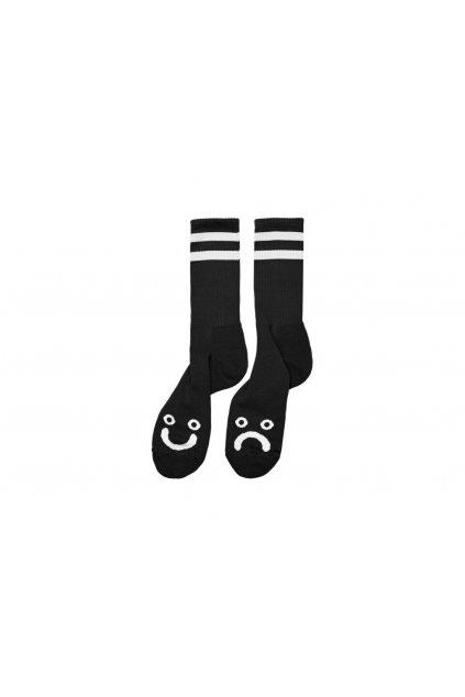 45291 ponozky polar happy sad socks black