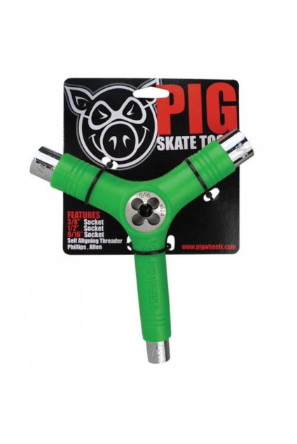 pig wheels pig tri socket threader green tool