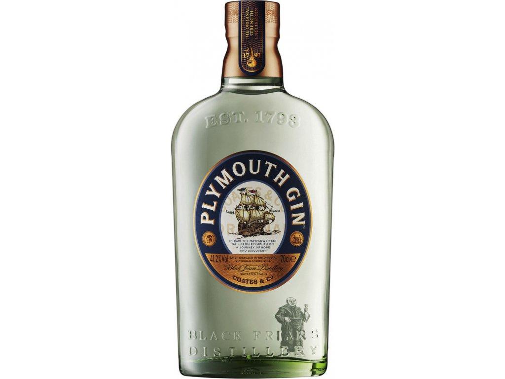 Plymouth gin 41,2%, gin 0,7L
