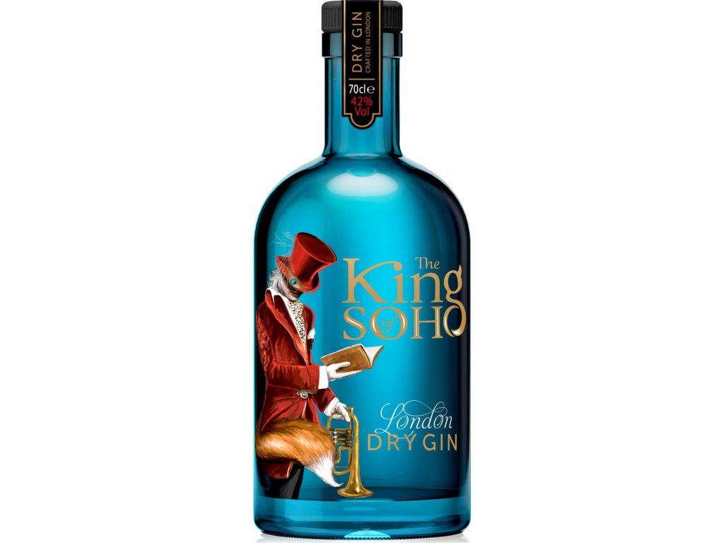 The King of Soho London dry 42%, gin 0,7L