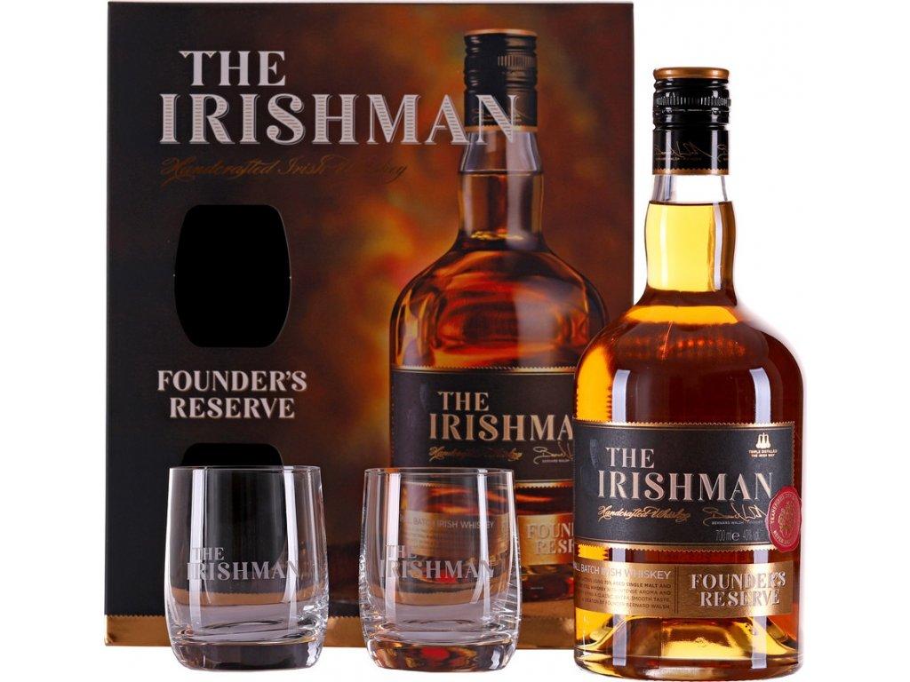The Irishman Founder's Reserve s 2 pohármi