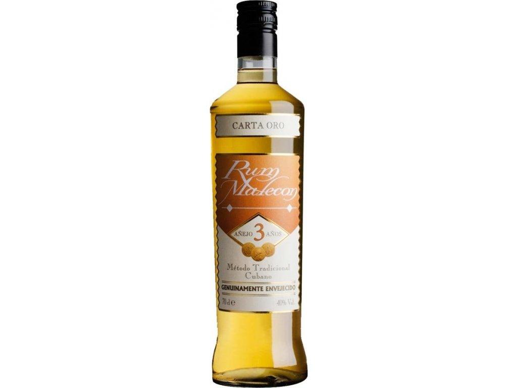 Malecon Carta Oro 3 Y.O. 40%, rum 1L