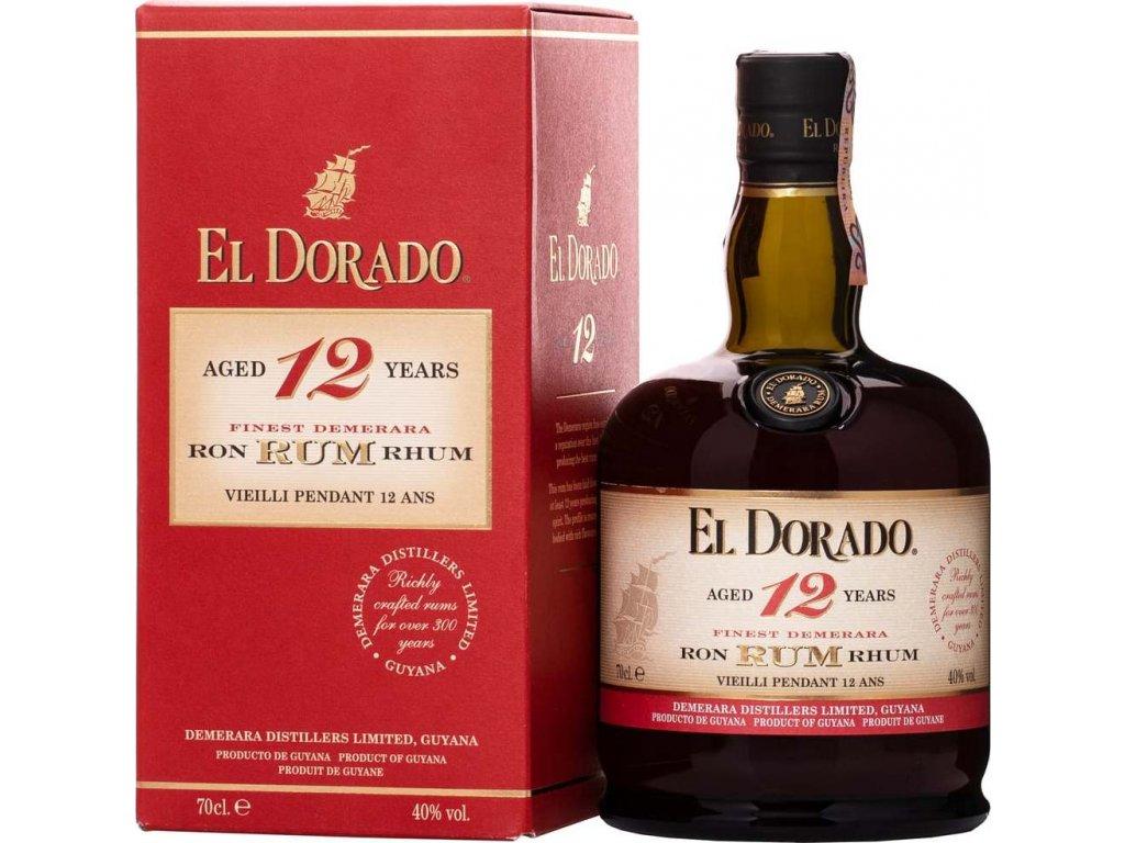 El Dorado 12 Y.O. 40%, rum, darčekové balenie 0,7L