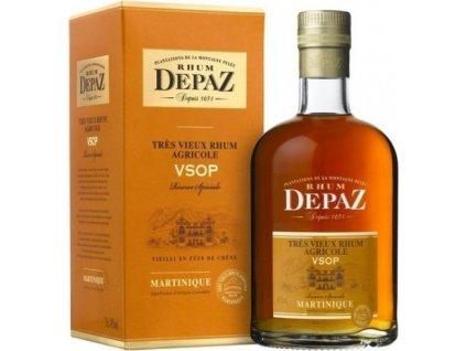 Depaz rhum Martinique VSOP 45%, rum, darčekové balenie 0,7L