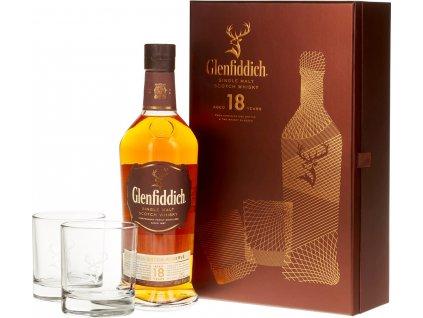 Glenfiddich 18 Y.O. s 2 pohármi